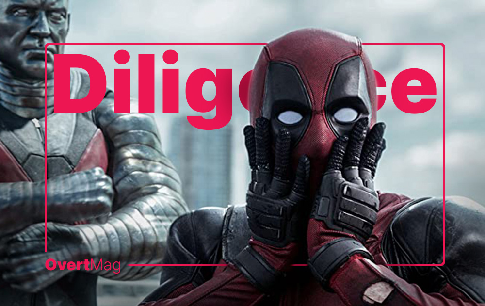 diligence with deadpool looking surprised